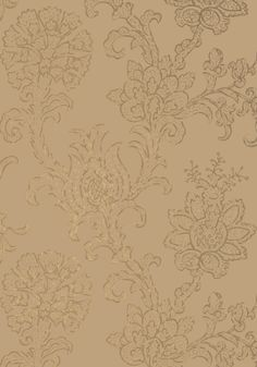 The block print #wallpaper technique of the bold floral in Shapell's sophisticated design climbs the walls with poise and grace. Featured here in #tobacco from the Neutral Resource collection. #Thibaut