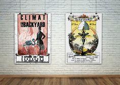 Affiche concert Climat + In The Backyard @babouchka (61) - Août 2015 + Affiche pour la Big Teuf Fermière VI - 2015