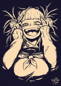 Toga is so flipping crazy. My kind of Yandere girl. - Shounen And Trend Manga Animes Yandere, Yandere Anime, Manga Anime, My Hero Academia Manga, Boku No Hero Academia, Character Art, Character Design, Yandere Girl, Himiko Toga
