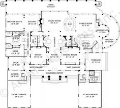 Fountainbleau House Plan First Floor Plan