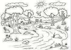Resultado de imagen para rios contaminados para colorear