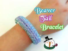 Beaver Tail Rainbow Loom Monster Tail Bracelet Tutorial ~ How To - YouTube Monster Tail Bracelets, Monster Tail Loom, Beaver Tails, Loom Bracelets, Rainbow Loom, Bracelet Tutorial, Diy Projects, Crochet, Creative