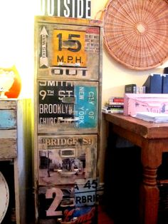 industrial filing cabinet, repurposed old file cabinet, office space, funky junk with a purpose, artfully made by Rear View Vintage Home Décor Frisco Mercantile