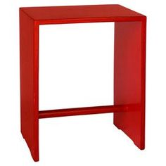 """The perfect canvas for a vase of bright blooms or your favorite family photos, this timeless wood end table features clean lines and a rounded stretcher bar.   Product: End tableConstruction Material: Wood Color: RedFeatures: Stretcher barDimensions: 21"""" H x 16"""" W x 11"""" D"""