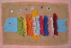 Image only - this would be wonderful! Yarn Crafts, Diy And Crafts, Crafts For Kids, Arts And Crafts, Classroom Projects, School Projects, Art Projects, Textiles, Handicraft