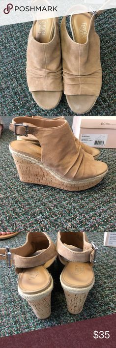 Franco Sarto Wedges size 8.5! Franco Sarto wedges size 8.5! I only worn these once! In excellent condition! I still have the original box. Sand in color. Franco Sarto Shoes Wedges