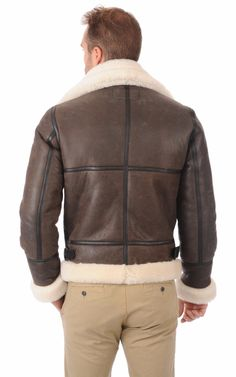 Bombardier LC1259 Marron Schott Sheepskin Jacket, Sheepskin Throw, Aviator Jackets, Bomber Jackets, Shearling Jacket, Leather Jacket, Peau Lainee, Hooded Jacket, Jacket Men