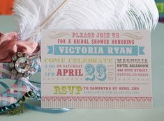 like colors & idea - Circus Invitation Carnival Bridal shower by papermintsshop on Etsy