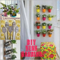 DIY Herb Garden!; great for small spaces