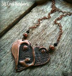 Heart Necklace in Fold Formed Copper by Silk Creek Metalworks, $35.00 www.silkcreekmetalworks.com