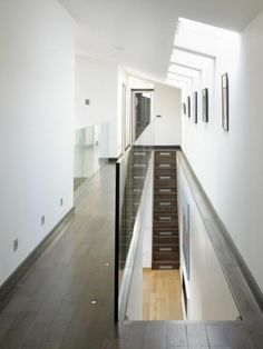 skylights modern corridor house design ceiling