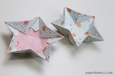 Origami Star Bowl Instructions