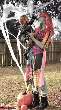 pictures and costumes i did of me and my son as jack skellington and sally from the nightmare before christmas halloween costume