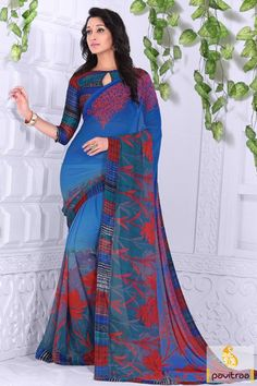 Create a fashionable era by wearing this opulent blue printed saree online at lowest price in India. Get the best exciting discount offer on this casual wear saree. #casualsaree, #printedsaree, #onlinesareeshopping, #discountoffer, #pavitraafashion,#utsavfashion, #lowestpricesaree, #blueprintedsaree http://www.pavitraa.in/store/casual-saree/ callus:917698234040