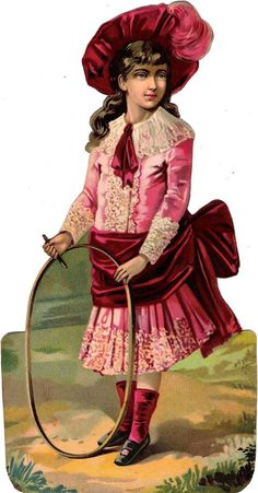 Oblaten Glanzbild scrap diecut chromo Kind  XL 25cm child girl Dame lady Mädchen