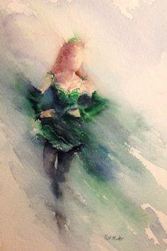 Irish+Dancer++Watercolor+Painting+by+Rachaelizaart+on+Etsy,+£80.00