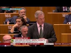 Nigel Farage before Resigning Humiliates the Members of the European Parliament and says that ''None of You have Ever done a Proper Job in your Life''!