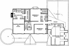Colonial Style House Plan - 4 Beds 3.50 Baths 3359 Sq/Ft Plan #137-119 Floor Plan - Upper Floor Plan - Houseplans.com