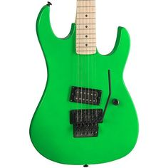 B.C. Rich Gunslinger Retro Electric Guitar (Neon Green) at ZoZoMusic.com