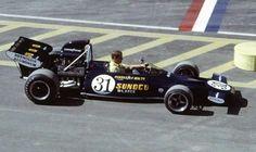 Penske McLaren M19B@The Glen David Hobbs 1971 USGP F1 Racing, Road Racing, David Hobbs, The Golden Years, Golden Age, Amc Javelin, Watkins Glen, Formula 1 Car, Mclaren F1