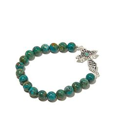 The rustic details of this cross bracelet, graced with the vibrant beauty of genuine turquoise, reminds you of the down-to-earth origins of your faith. Description from hsn.com. I searched for this on bing.com/images