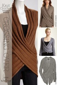 DiaryofaCreativeFanatic: Needlecrafts - Knit, Crochet - Crossover Tops - definitely the brown one for inspiration
