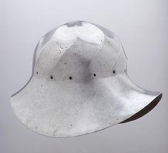 War Hat Date: ca. 1475 Geography: probably Burgundy Culture: Western European, probably Burgundy Medium: Steel Dimensions: H. 10 3/16 in. (25.9 cm); W. 9 3/4 in. (24.8 cm); D. 14 5/8 in. (37.1 cm); Wt. 6 lb. 7 oz. (2920 g)