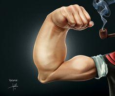 15 Illustrations Inspired by Popeye the Sailor Man #art #illustration