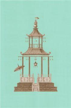 Pagoda. Chinoiserie chic.