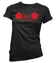 Women's dungeons and dragons shirt they're natural funny shirt, Black, X-Large