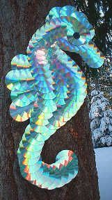 Re use CD's Art - seahorse, outdoors