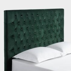 Forest Green Jaelyn Tufted Queen Headboard - v1