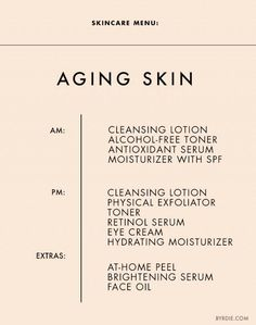 Skincare Menu: Aging Skin