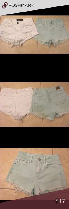 Lot 2 shorts american eagle and animale Inclued 2 shorts. American eagle and animale! Size XS American Eagle Outfitters Shorts Jean Shorts