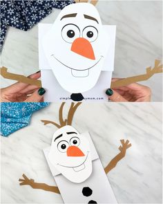 Paper Bag Olaf Craft Paper Bag Olaf Craft Kids got Frozen 2 fever? They'll love making this paper bag Olaf craft. It's super easy to make since it comes with a free printable template. Great for toddlers, preschool and kindergarten children. Diy Paper Bag, Paper Bag Crafts, Paper Craft, Olaf Craft, Craft Kids, Preschool Crafts, Preschool Kindergarten, Homemade Books, Paper Bag Puppets