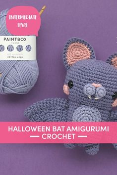 Make this fang-tastic little amigurumi bat this Halloween! Oscar is so cute and cuddly, kids and grownups will love his squidgy pink and lilac body, wings, curious ears and even little fangs. | Downloadable PDF at LoveCrafts.com Crochet Yarn, Crochet Hooks, Free Crochet, Punch Needle Kits, Needle Felting Kits, Cross Stitch Supplies, Plymouth Yarn, Cascade Yarn, Halloween Bats