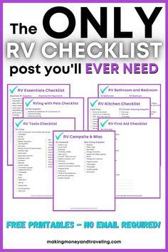 Travel Trailer Organization, Travel Trailer Camping, Rv Organization, Travel Trailers, Rv Camping Checklist, Camping 101, Camping Meals, Camper Hacks, Rv Hacks