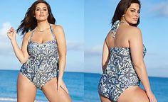 Becca ETC Plus-Size Printed Tankini Top & Plus-Size Printed Bikini Bottoms
