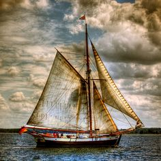 Sailing Photo Of The Day - Gaff Rig and An Amazing Sky - Messing About In Sailboats