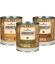 Benjamin Moore's Arborcoat Waterborne Exterior Stain - available in transparent, semi solid, and solid finishes - provides beautiful, long lasting results for your siding, decking, fencing, etc.