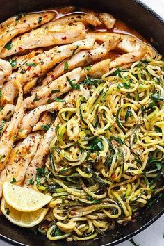 Cowboy Butter Chicken and Zucchini Noodles - This GORGEOUS paleo dinne. - low carb - Cowboy Butter Chicken and Zucchini Noodles – This GORGEOUS paleo dinner idea is simple, easily customizable and pretty much fail-proof. Healthy Chicken Recipes, Paleo Recipes, Low Carb Recipes, Cooking Recipes, Crockpot Recipes, Zucchini Noodle Recipes, Chicken Zucchini, Cheap Recipes, Keto Chicken