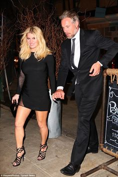 Date night: Jessica Simpson and Eric Johnson headed out for a late bite in New York on Tue...