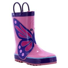 Toddler Girl Wings Rain Boot Pink - Western Chief