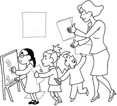 Coloriage Maitre Ecole.39 Meilleures Images Du Tableau Coloriages Rentree Des Classes