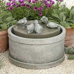 Passaros Garden Fountain...Love the birds! Very similar to the one I have here at home.