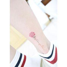 Tiny peony watercolour tattoo