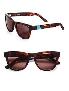 Westward Leaning Sleeping Beauty Acetate Square Sunglasses as seen in outfit on www.shoppingmycloset.com