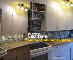 This Instructable will give you the building blocks to install your under cabinet LED tape without soldering any wires.Every cabinet is different. Be creative and the results can be amazing.Please vote.Please ask questions.