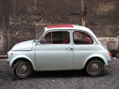 Fiat 500 in Rome, Jan 2012