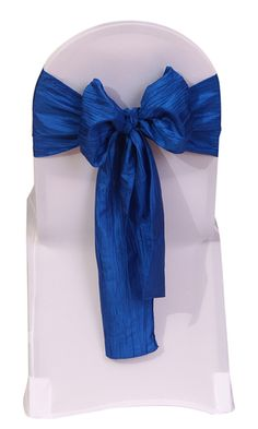 If you are styling special occasions such as weddings, catering events, corporate parties and other special events that call for exquisite designs and modern elegance, our royal blue crinkle taffeta sash will definitely fit the bill. When used to complement your wedding chair covers or as a wedding reception hall accent, the textured look of crushed or crinkled royal blue taffeta will definitely help make a stylish statement. This royal blue taffeta chair sash is one of the specialty table…